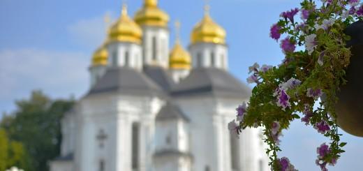 Екатерининская церковь- яркий пример казацкого барокко Левобережья.