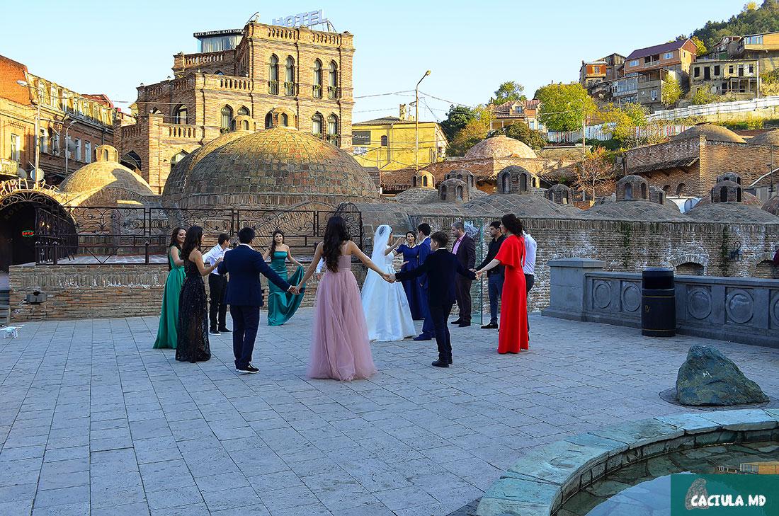 как празднуют свадьбы в Грузии, Тбилиси 2016